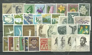 YUGOSLAVIA  1963  complete year collection MNH