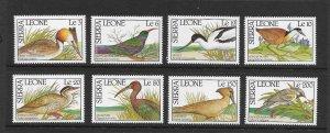 BIRDS - SIERRA LEONE #1233-40 MNH