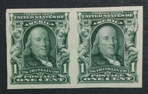 MOMEN: US #314 PAIR MINT OG H #31812