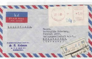 pakistan  airmail 1969 stamp cover Ref 10066