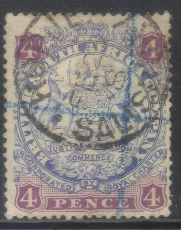 RHODESIA 1896-1897 SG32b USED CAT £26