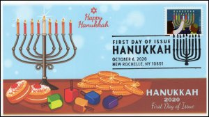 20-234, 2020, Hanukkah, First Day Cover, Pictorial Postmark, Holiday