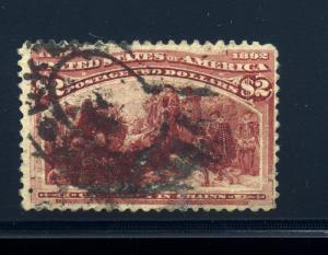 Scott 242 Columbian High Value Used Stamp (Stock 242-14)