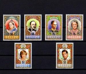 BELIZE - 1984 - QE II - HOUSE OF TUDOR - QUEEN VICTORIA +++ 6 X MINT - MNH SET!