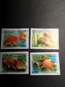 Togo Scott #1894/1898  Used 1999 Goldfish 4 Diff. VF & Attractive