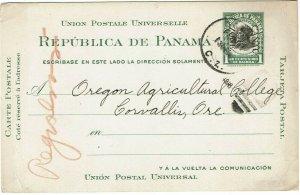 Canal Zone 1916 Balboa cancel on 1c postal card to the U.S., UX4
