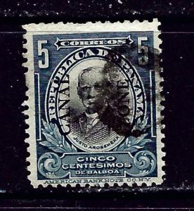 Canal Zone 33 Used 1907 overprint
