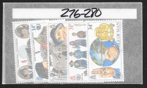 ISLE OF MAN Sc#276-280 Complete Mint Never Hinged Set