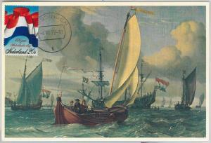 63594  -  NETHERLANDS - POSTAL HISTORY: MAXIMUM CARD 1972 -  FLAGS