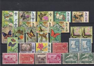 Malaysia Mixed Subjects Stamps Mostly Butterflies Ref 30256