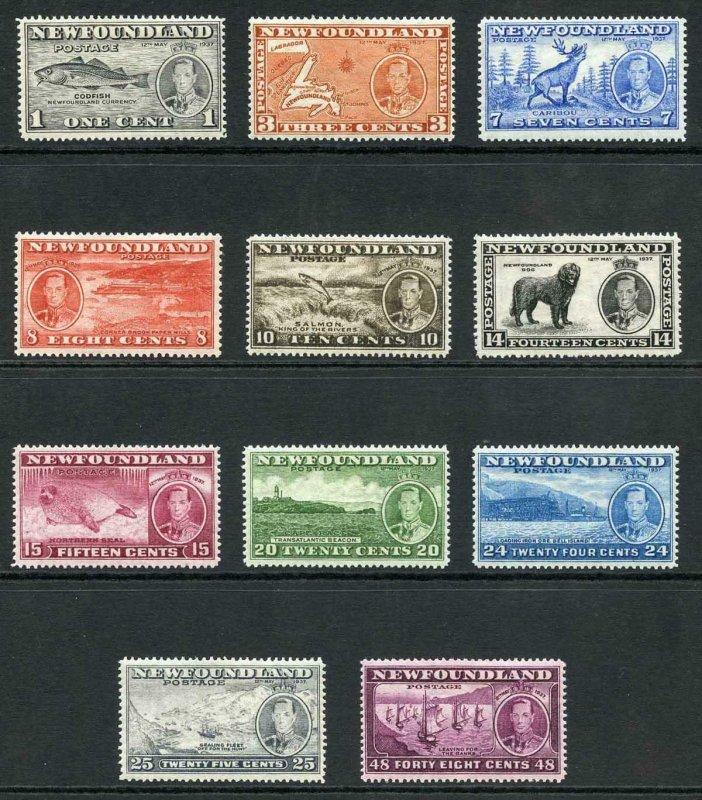 Newfoundland 1937 Set of 11 fine fresh M/M