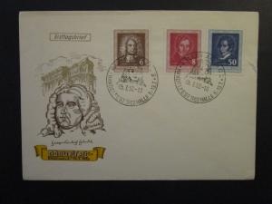 Germany DDR SC# 100 / 102 Set on 1952 FDC / Unaddressed / Cacheted - Z4505