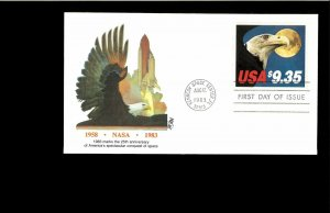 1983 FDC $9.35 Express Mail Kennedy Space Ctr. FL