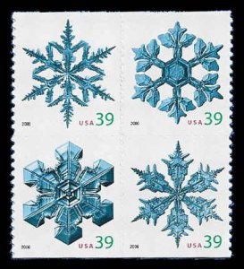 PCBstamps     US #4105/4108a Block $1.56(4x39c)Snowflakes. 2006, MNH, (5)