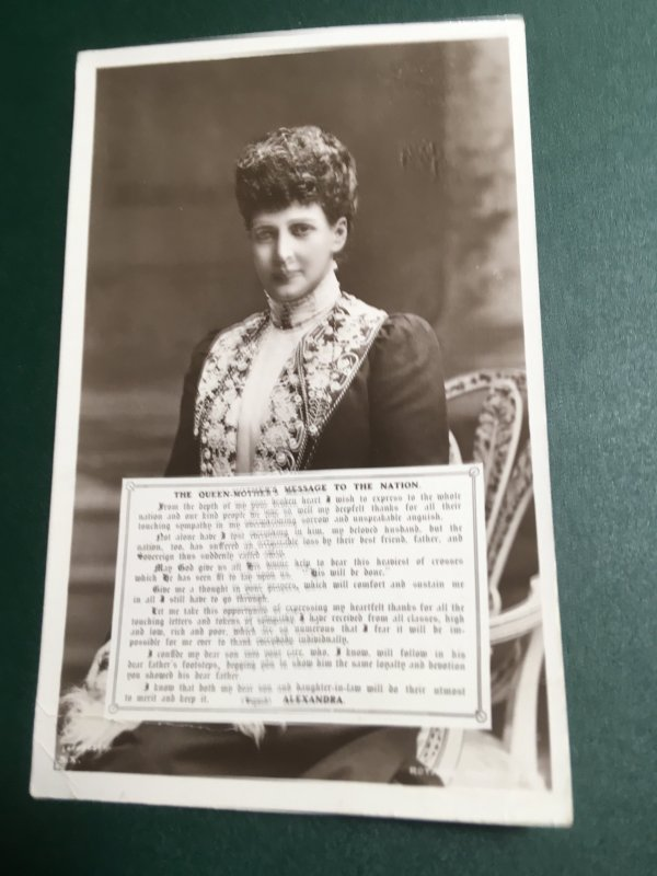 GB - 1910 Postcaes Queen Alexandra (Denmark) Widow of King Ed VII - Died 1910