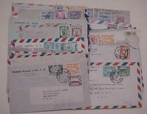 PERU  49 SMALL COVERS 1940's MOSTLY TO USA INCLUDES REGISTERED