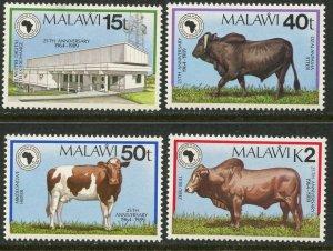 MALAWI Sc#550-553 1989 African Development Bank Complete Set OG Mint Hinged
