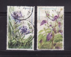 Kenya 259-260 U Flowers (E)