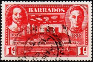 Barbados. 1939 1d S.G.258 Fine Used