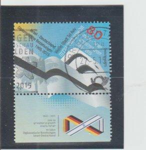 Israel  Scott#  2062  Used w/ Tab  (2015 Israel-German Diplomatic Relations)