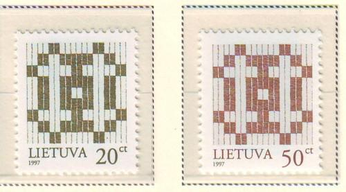 Lithuania Sc 581-2 1997 Double Barred Crosses stamp set m...