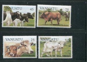 Vanuatu MNH 373-6 Cattle Mammals 1984