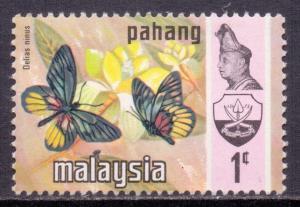 Malaya Pahang Scott 90, 1971 Butterfly 1c MNH**