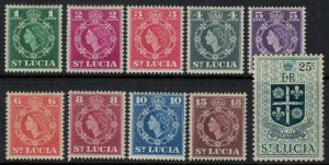 St. Lucia #157-66*  CV $3.35