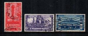 Italy 265 - 267 used cat $9.00