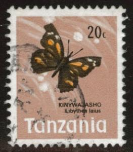 Tanzania Scott 38 Used Butterfly stamp