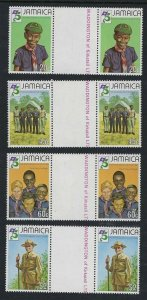 1982 Scouts Jamaica 75th anniversary Baden Powell gutter pairs