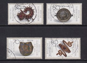 Germany Berlin  #9NB249-9NB252    used   1987  gold and silver artefacts