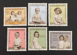Luxembourg 1962 #B228-33, Jean & Margaretha, MNH