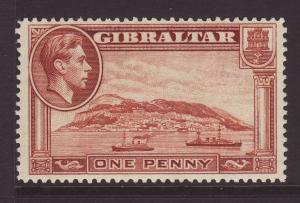 1938 Gibraltar 1d Perf 14 U/M