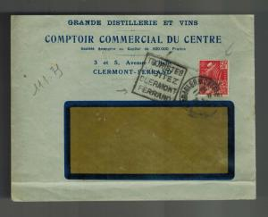 1931 Clermont Ferrand France Cover Winery Distillery Liquor Window Envelope