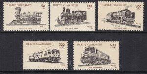 TURKEY ^^^^sc#2405-09  MNH set ( LOCOMOTIVES/TRAINS)$$@ dcc156turk