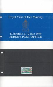 Jersey 515 Royal Visit 1989 MNH, Presentation Pack