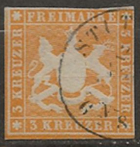 Wurttemberg #9 orange silk thread u