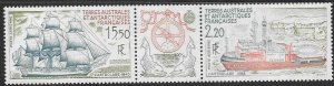 FRENCH SOUTHERN & ANTARCTIC TERRITORIES SG268a 1990 SHIPS MNH