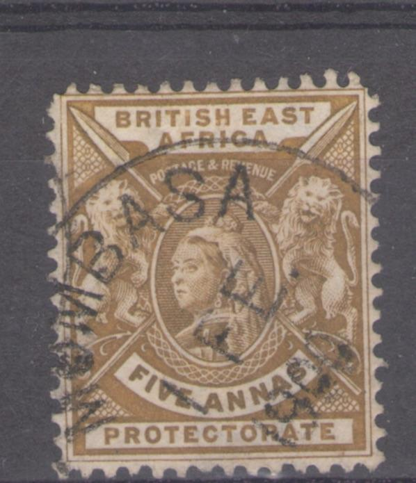 British East Africa 1896 Queen Victoria 5a Scott # 80 U