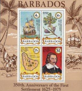 Barbados, Sc 421a, MNH, 1975, First Settlement