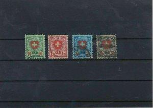 Switzerland 1924 Used Stamps Set CAT£36 Ref: R6750