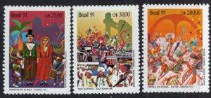 Brazil MNH 2301-3 Carnivals 1991 SCV 4.60