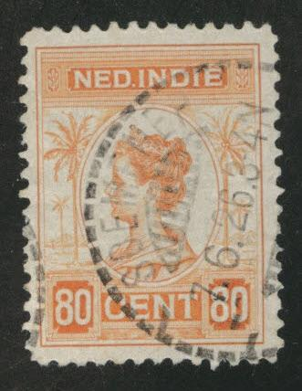 Netherlands Indies  Scott 133 used  from 1912-20 set
