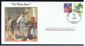 NORMAN ROCKWELL COMMEMORATIVE COVER THE PIANO TUNER
