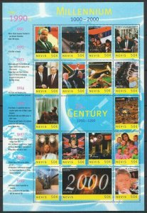 EC107 NEVIS MILLENNIUM 1000-2000 20TH CENTURY 1990-1999 THE 1990'S 1SH MNH