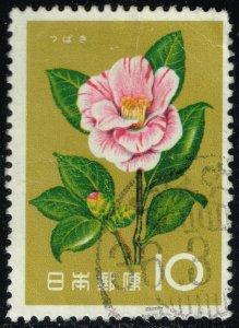 Japan #714 Camellia; Used (3Stars)