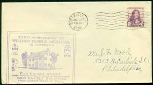 PLANTY 724-6 NEW CASTLE CHAMBER/COMM CACHET FDC BL7531