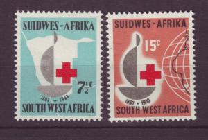 J19061 Jlstamps various 1963 south west africa set mnh #295-6 red cross