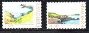 Faroe Islands Sc 556-7 2011 Johannessen Paintings stamp set mint NH
